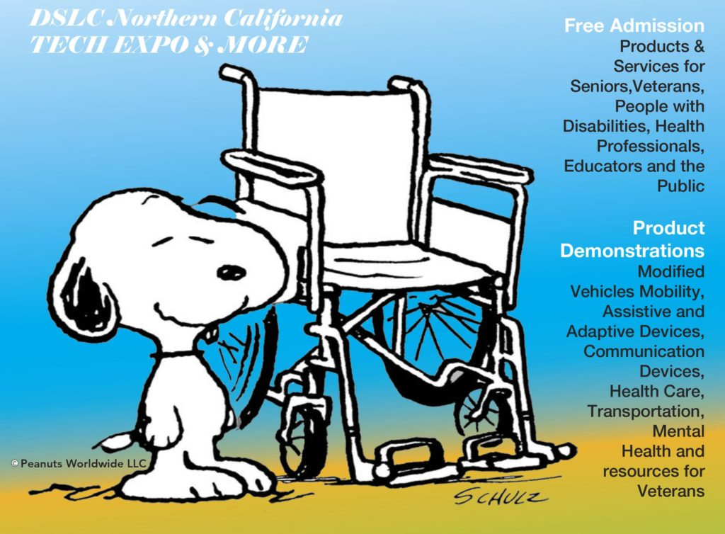 Snoopy and the DSLC Assistive Technology Expo