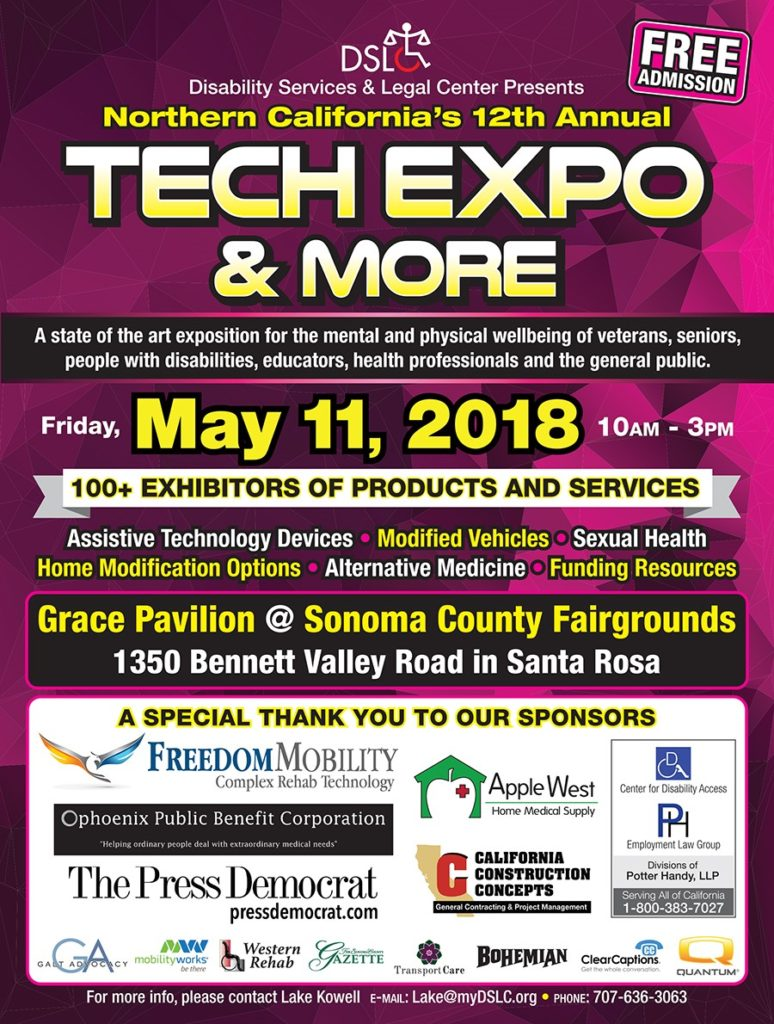2018 Tech expo flyer